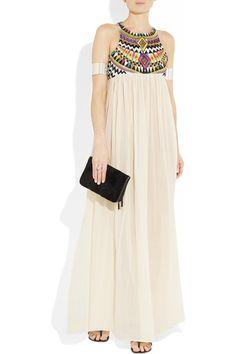 Sass & bide  The Lifechangers embroidered silk-blend maxi dress