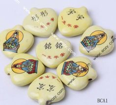 32x30mm Porcelain Charms Heart Jewelry Necklaces Making Findings Beads