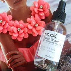 Amaki Rose Water is a bouquet in a bottle, on my blog, rawdorable.blogspot.com #Amaki #AmakiSkincare #naturalbeauty #skincare #rosewater