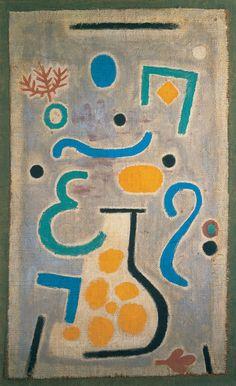 Paul Klee - The Vase, 1938, oil on burlap on burlap, 88 x 54.5 cm
