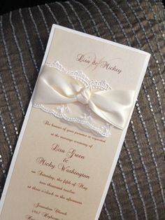 Custom lace layered wedding invitation. Info@theinviteonline.com