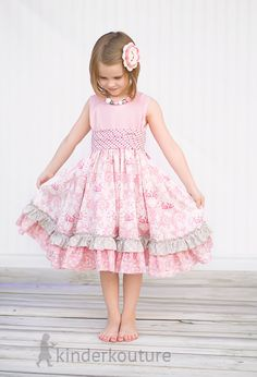 Girls Easter Dress The April Dress Size 1 2345 by KinderKouture