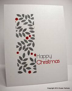 Papertrey Ink Embellished Elegance stamp set. Red and Gray color combo. Might be interesting with silver instead of gray. Christmas.