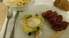 Picaña de Blak Angus con huevo a baja temperatura. RESTAURANTE EL DE ALBERTO