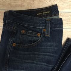 "Closing Shop Sale J.Crew Jeans J.Crew Broken In Vintage Straight Jeans 27 Regular 29.5"" inseam Slight wear shown in picture 4 on back pocket J. Crew Jeans Straight Leg"