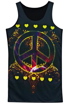 "#Romwe ROMWE | ""Leopard Peace & Heart"" Sleeveless Shirt, The Latest Street Fashion"