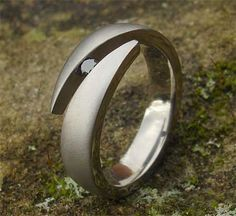 Unusual Black Diamond Titanium Engagement Ring | UK! Titanium Engagement Rings, Engagement Rings For Men, Engagement Ring Settings, Diamond Engagement Rings, Black Diamond, Diamond Rings, Pearl Ring, Fine Jewelry, Pearl Rings