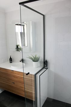 On the Ball Bathrooms are specialist in providing bathroom renovations to Perth. Perth Bathrooms renovations for over 20 years and are the waterproofing experts Charcoal Bathroom, White Bathroom, Bathroom Colors, Bathroom Designs, Bathroom Ideas, Back To Wall Toilets, Timber Walls, Grey Countertops, Wall Hung Vanity