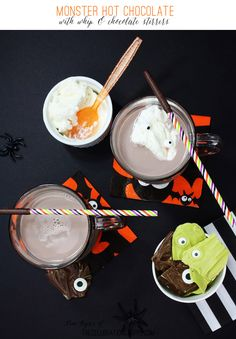 Monster Hot Chocolate with Whip & Chocolate Stirrers