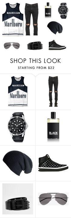 """Sex, drugs & rock'n'roll"" by vinogradinka21 on Polyvore featuring RtA, Comme des Garçons, Black, Jimmy Choo, River Island, Yves Saint Laurent, men's fashion и menswear"