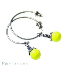 Neon earrings made ​​of sterling silver (925) #earring; #silver; # neon; #fluo; #hoop; #jewellery; #fashion