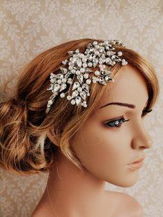 wedding bridal headband bridal headpiece Miss by gadegaarddesign, $149.00
