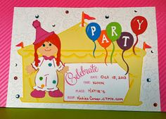 It's a PARTY!  Birthday card made with various papers and embellishments!  CTMH products available at Katiescorner.ctmh.com