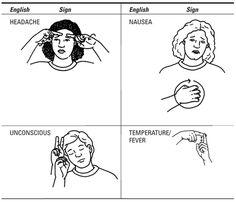 symptoms 2 sign language