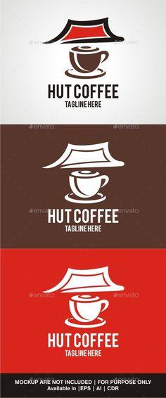 Hut Coffee Logo Design Template Vector #logotype Download it here: http://graphicriver.net/item/hut-coffee/10159422?s_rank=1052?ref=nexion