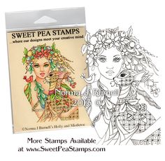 Holly & Mistletoe - Original Fairy Tangles™ designs by Norma J Burnell