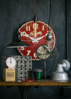 Vintage-inspired lighting and decor brought to you by Barn Light Electric! Vintage Industrial Decor, Industrial Living, Industrial Chic, Vintage Lighting, Industrial Furniture, Industrial Design, Industrial Interiors, Industrial Office, Vintage Vignettes