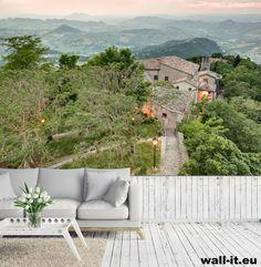 Fototapeta do pokoju dziennego http://www.wall-it.eu/product/photowallpapers/architektura/wallpaper%20mural%20italy%20fototapety%20na%20wymiar.jpg #fototapeta #fototapety #mural #murals #aranzacja #living #room #green #zielen