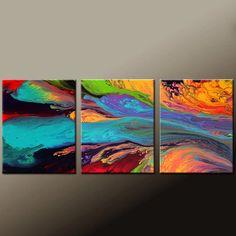 Arte abstracto impresiones Set 11 x 14 ea contemporáneo