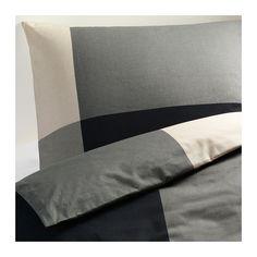 IKEA - БРУНКРИСЛА, Пододеяльник и 1 наволочка, 150x200/50x70 см, , Пододеяльник с потайной застежкой – одеяло не выбивается. Арт. 602.136.21 (699 руб.)