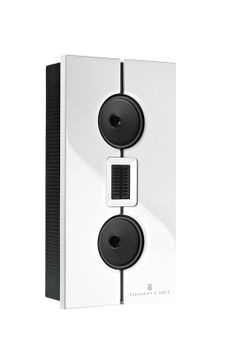 The discreet Steinway Lyngdorf Model M speaker system is also available in crisp white.