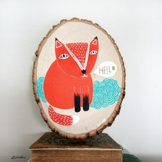 Fox-Painting-on-Wood-Dinara-Mirtalipova