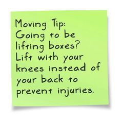 Moving Tips. #MovingTips #heavylifting