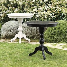 Isola Pedestal Side Table available in many finishes -- $499.99 // game table/extra work space