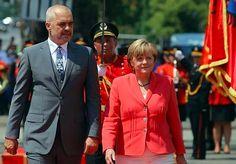 "Angela Merkel a Tirana, lo ""show"" di Edi Rama Albania, Suit Jacket, Breast, Suits, Jackets, Fashion, Angela Merkel, Down Jackets, Moda"