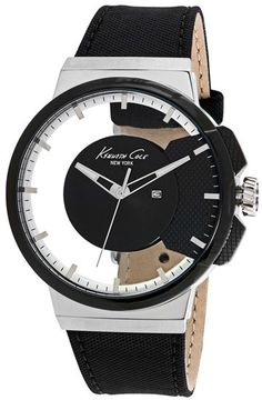 Kenneth Cole New York Transparent Dial Watch, 44mm