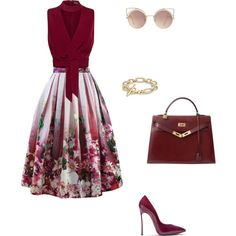 A fashion look from July 2016 featuring Columbia blouses, Chicwish skirts and Casadei pumps. Browse and shop related looks.