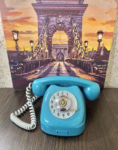 Rare retro phone 1975,Tesla phone,Vintage phone,Dial telephone,Stylish telephone,Turquoise phone,Soviet desk telephone,Green phone,Homephone Pay Attention To Me, Retro Phone, Ring Ring, Telephone, Landline Phone, Desk, Turquoise, Stylish, Green
