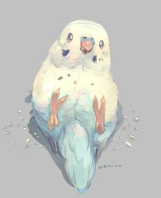 ideas for drawing art designs artworks inspiration - Happy Tiere Cute Animal Drawings, Bird Drawings, Kawaii Drawings, Cute Drawings, Pretty Art, Cute Art, Cute Birds, Art And Illustration, Fantasy Creatures