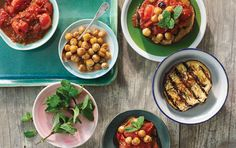 This easy vegan dish is packed with some great summer flavors. Cooking chickpeas in a dry skillet right on the grill makes them deliciously crisp on the outside and creamy inside.