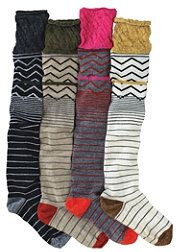 colorful knee highs for boots