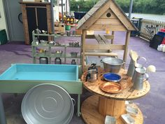 EYFS outdoor water area Eyfs, Water, Outdoor, Furniture, Home Decor, Gripe Water, Outdoors, Decoration Home, Room Decor