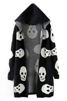 skulls cardigan ... i want please