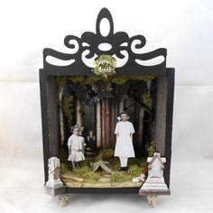 Gothic Art  Shadow Box  Vampire Diorama by NacreousAlchemy on Etsy, $43.00