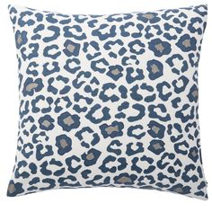 Complete the look of your couch with this Andrew Charles Animal Print Throw Pillow featuring a cheetah/ leopard print. The blue and grey colors will complement your decor while adding extra style to your sofa, chair or bed. This pillow is crafted of cotton.