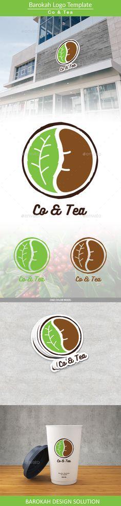 Co & Tea Logo template - Restaurant Logo Templates