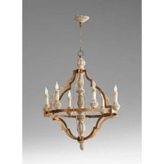 Check out the Cyan Design 05256 Bastille 6 Light Chandelier in Sawyers White Wash Plantation Bronze priced at $1,372.50 at Homeclick.com.