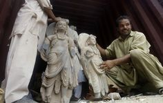 These ancient statues were among many recovered today (070712) in Pakistan as looters tried to take them out of the country. The majority of the recovered items were statues of Buddha and assorted other items of religious significance. It is believed that the items were looted from archaeological sites across the northwest of Pakistan. This northwest region was once part of Gandhara, the ancient Buddhist kingdom that stretched across modern-day Pakistan and Afghanistan in the I to the V…