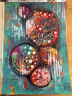 Art journal page in my large dylusions journal   by Tr4cy1973