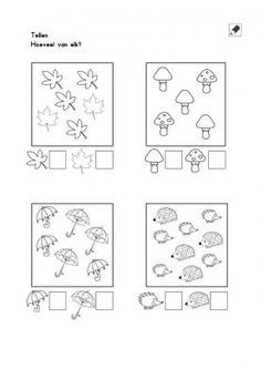 Crafts,Actvities and Worksheets for Preschool,Toddler and Kindergarten.Lots of worksheets and coloring pages. Kindergarten Math Worksheets, Tracing Worksheets, Worksheets For Kids, Preschool Activities, Counting Worksheet, Autumn Activities For Kids, Math For Kids, Teaching Numbers, Math Lessons