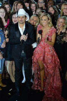 Fabulously Spotted: Carrie Underwood Wearing Christian Siriano - 2013 CMA Awards - http://www.becauseiamfabulous.com/2013/11/carrie-underwood-wearing-christian-siriano-2013-cma-awards/