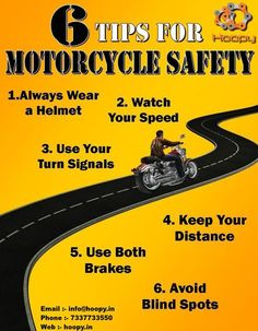 6 ‪#‎Tips‬ ‪#‎For‬ ‪#‎Motorcycle‬ ‪#‎Safety‬ Find More :- http://www.hoopy.in/ Call at :- 7337733550