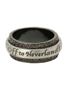 Disney Peter Pan Off To Neverland Spinner Ring | Hot Topic