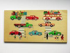 Simplex Puzzel cars (Vintage)