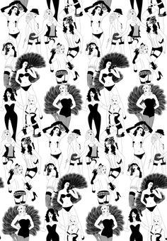 Burlesque #wallpaper #coveredwallpaper #graphicwallpaper #paperyourwalls #design Geometric Wallpaper Design, Graphic Wallpaper, Retro Wallpaper, Bathroom Wallpaper, Modern Graphic Design, Designer Wallpaper, Burlesque, Monochrome, Photo Wall