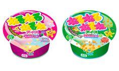 あの「ねるねるねるね」がアイスに! 3種を混ぜると色や味が変化